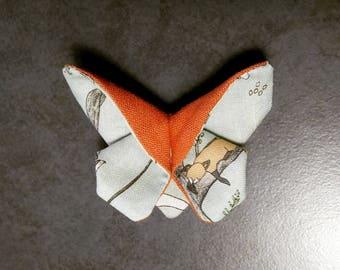 Butterfly 'Sleepy Fox' Hairclip