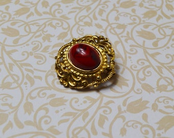 Brooch Shawl Pin Scarf Pin  on Gold tone Gold plated vintage