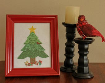 Traditional Fabric Christmas Tree Picture