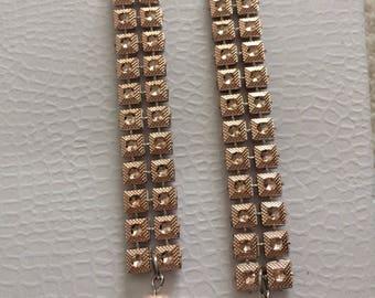 Pink Champagne Drop Earrings