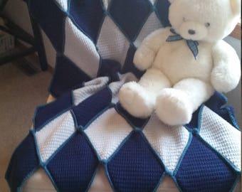 Pre-Order**Crib Sized Crochet Blanket**Be Still My Harlequin Heart