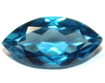 NATURAL A++ QUALITY London Blue Topaz 7x3.5 Marquise Cut Loose Gemstone BT-02