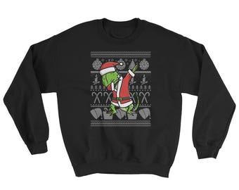 Funny Dabbing Iguana Ugly Christmas Sweater Cute Pet Gift