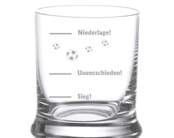 "Leonardo Whisky glass with engraving/engraved ""matchday"" as personal gift football team Whiskey Glass team"