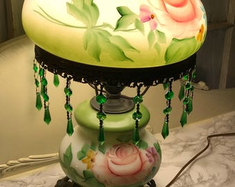 Green Gone With The Wind Lamp