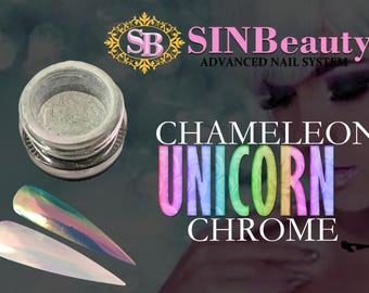 2g - Unicorn Chameleon Chrome Powder- Easy To Use- DIY Nail Art- Professional Products