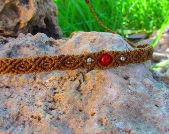Jasper macrame bracelet, macrame jewerly