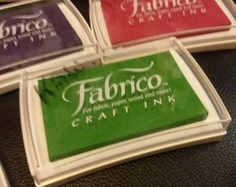 Fabrico craft ink pads for fabric, paper, wood, and more water based non toxic