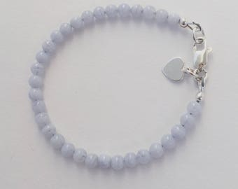 Children's Blue Lace Agate Bracelet