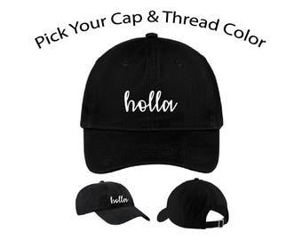 Holla Dad Cap, Holla Dad Hat, Dad Cap, Dad Hat, Funny Hat, Cap, Hat, Cap Daddy