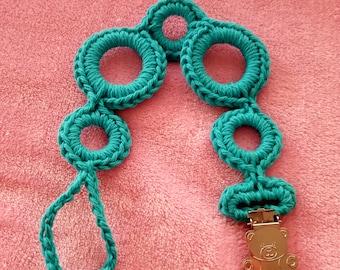 Crochet Pacifier Clip/Crochet Pacifier Holder