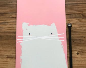 Kitty Cat Pink Notebook