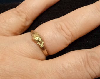 Gold nugget ring size 8
