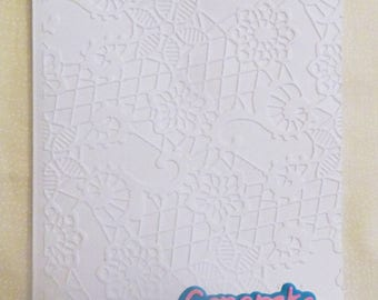 Congrats Embossed All Occasion Greeting Card, Handmade Greeting Card, Made in the USA, #72