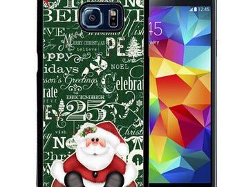 Christmas Rubber Case For Samsung S5, S6, S6 edge, S6 Edge Plus, S7, S7 Edge,  8, 8 plus - Santa Sitting