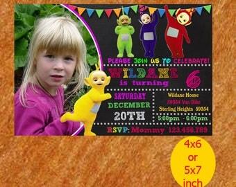 Teletubbies Birthday Invitation, Teletubbies Invitation, Teletubbies Birthday, Teletubbies Party, Teletubbies Printable, Instant Download