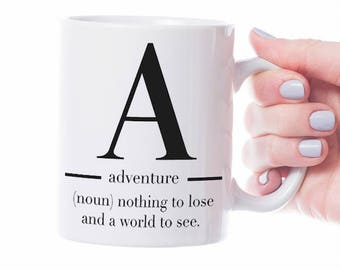 "Cup gift with motif ""adventure"""