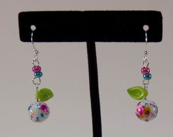 Feeling Fruity - Paint Splatter Fruit Sphere Earrings