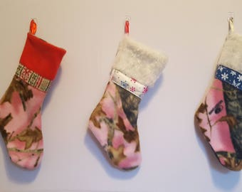 Pink camo/ camp/ stockings/ christmas/ hunter/ outdoor/ hunting/ pink/ Minnesota