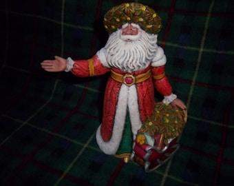 Hand Painted Ceramic Santa #8