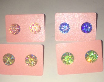Faux Druzy Stud Earrings