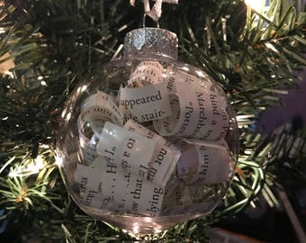 Harry Potter bookpage ornaments