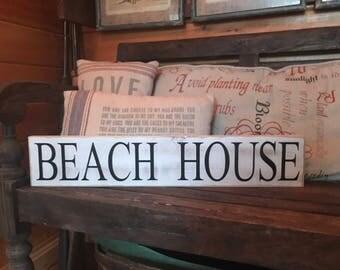 Beach House Wood Sign