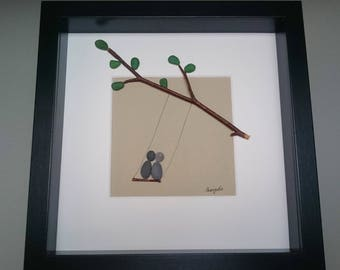 Pebble art, Sea glass art, Pebble art couple, Pebble art family, Pebble picture, Sea glass picture, Weddings,