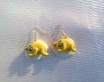 Gudetama earrings!!