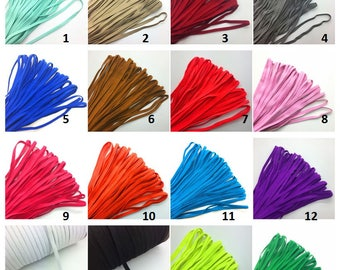 "5yds 1/4"" 6mm Thickening Satin Elastic Band Trim Sewing Spandex Lace Pick color"