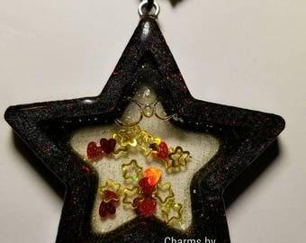 Black Star Resin Shaker Charm