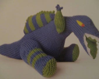 Handmade Knitted Spinosaurus Prehistoric Dinosaur, Part Of The Prehistoric Collection (New, Made To Order) 3+