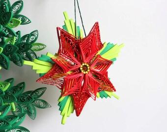 Handmade Christmas Poinsettia