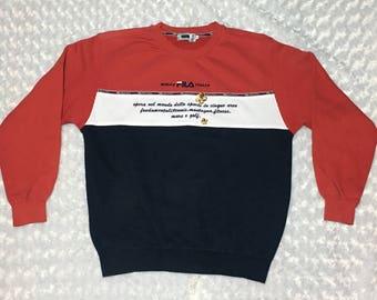Vintage FILA Spell out sweatshirt Jacket Sweater Rare