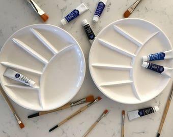 Paint Palette Plates, Set of 2