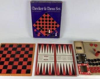 Vtg Whitman #4812 Chess And Checkers Set 1963
