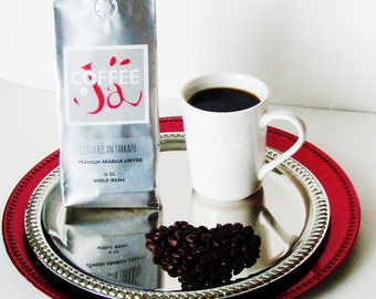 Costa Rican Tarrazu  Coffee / Premium Arabica Whole Bean Coffee / 12 oz / Gift Under 20