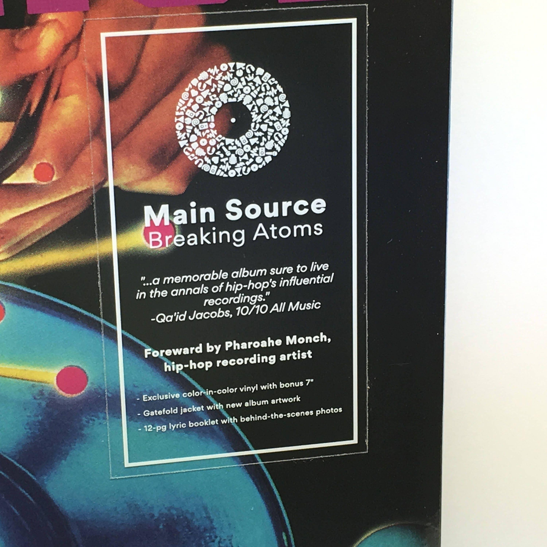 Main Source / Breaking Atoms LP Orange / Clear Vinyl Record w/ 7 ...