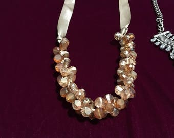 Champage Crystal Classy Necklace