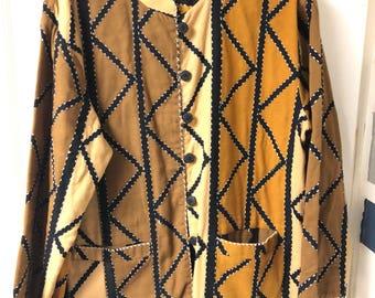 Brown Smithsonian Institution jacket.