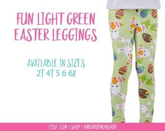 Toddler Leggings / Easter Toddler Leggings / Easter Kids Leggings / Easter Pants / Easter Bunny Leggings / Spring Leggings / Toddler Gift