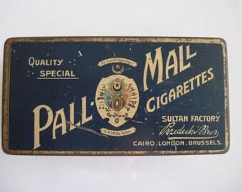 Pall Mall Quality Special Cigarette Tin (100/empty) by Przedecki Bros  c.1910/20