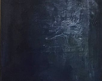 Blue 3 - Abstract painting, acrylic on canvas, blue textured, original painting, painting on canvas, wall art, contemporary painting