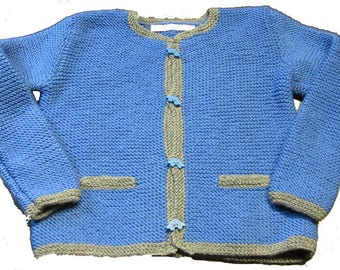 """Hand knitted Janker """"Blue cars"""""""
