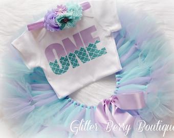 mermaid birthday outfit, mermaid first birthday set, mermaid birthday tutu set,