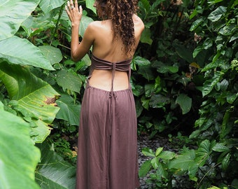 Fire and Rain - size 8-14 backless adjustable interchangeable dress earth warrior organic cotton elegant relaxed comfy stylish ethnic queen