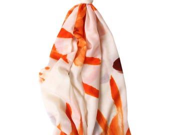 Sunset Merino wool scarf