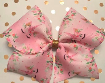 Magical Unicorn cheer bow