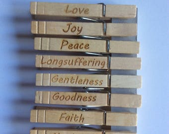 Clothes Pin Fruit of the Spirit