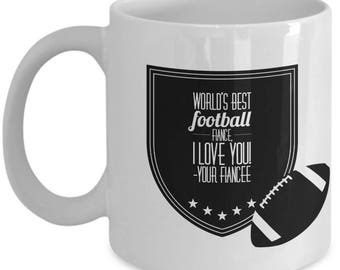 WORLD'S BEST Football Fiance! Coffee Mug